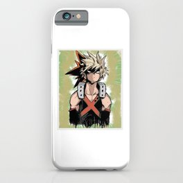 Bakugou Katsuki design iPhone Case