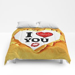 I love you paper Comforters