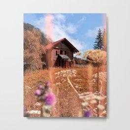 Swiss Chalet Metal Print