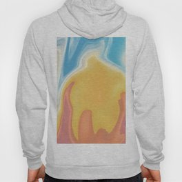 Sunset on Fire Abstract Design Hoody