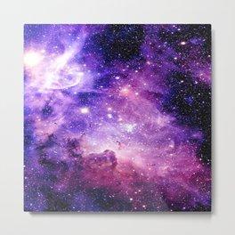 Galaxy Nebula Purple Pink : Carina Nebula Metal Print