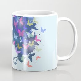 Woman with the hair made of butterflies Coffee Mug