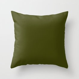 Dark olive Throw Pillow