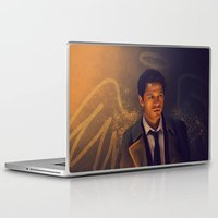 supernatural Laptop & iPad Skins featuring Castiel - Supernatural by KanaHyde