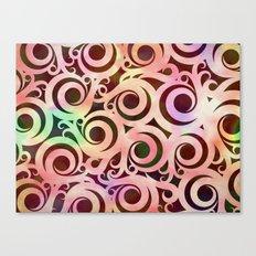 Softly Colored Swirls Canvas Print