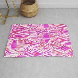 HEY FLAMINGO Pink Watercolor Tribal Rug