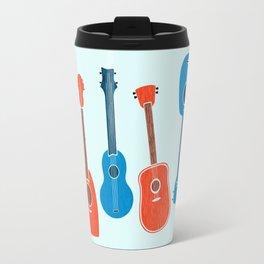 Uke Party ~ Red Blue Palette Travel Mug