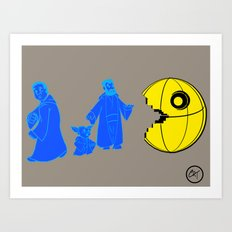 Thats no moon its a... oh hell run!! Art Print
