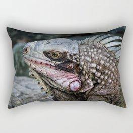 Portrait of an Iguana Rectangular Pillow