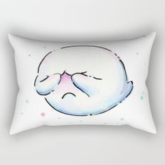Boo Ghost Mario Watercolor Rectangular Pillow