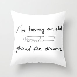 Silence of the Lambs. Quotes. Hannibal Throw Pillow