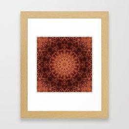 Knit pattern kaleidoscope copper Framed Art Print