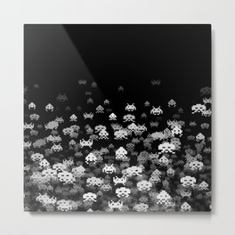 Invaded BLACK Metal Print