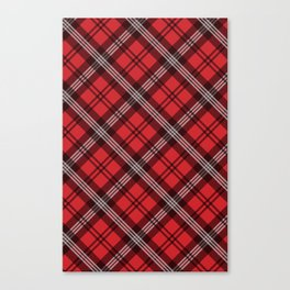 Scottish Plaid (Tartan) - Red Canvas Print
