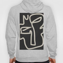 Abstract line art / Face Hoody
