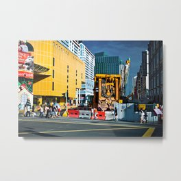 Street Scene in Singapore Metal Print
