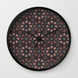 Islamic Art Geometric Pattern Burgundy Wall Clock