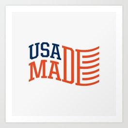 USA MADE Art Print