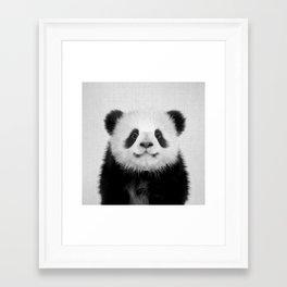Panda Bear - Black & White Framed Art Print
