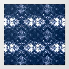 Shibori Tie Dye 1 Indigo Blue Canvas Print