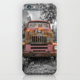 International RC-160 Flatbed Vintage Rusty Truck iPhone Case