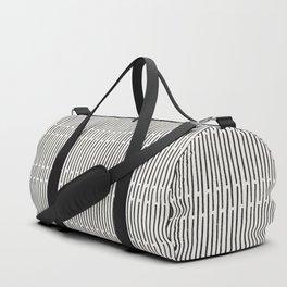 Distressed Hand Drawn Stripe Pattern Duffle Bag