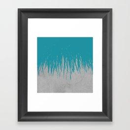 Concrete Fringe Teal Framed Art Print
