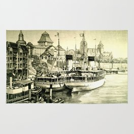 THE HARBOUR IN GREYS Rug