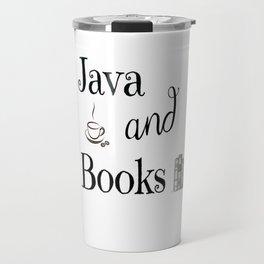 Java & Books Travel Mug