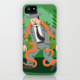 Man with Snakes iPhone Case