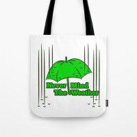 umbrella Tote Bags featuring Umbrella by mailboxdisco
