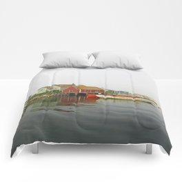 Fog in the Maritimes Comforters
