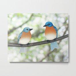 eastern bluebirds and bokeh Metal Print