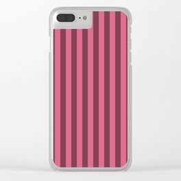 Blush Pink Stripes Pattern Clear iPhone Case