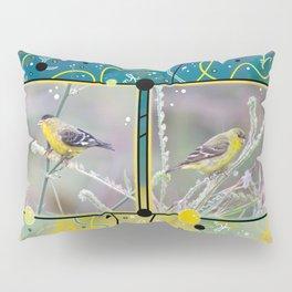 Little Yellow Birds (Lesser Goldfinches) Pillow Sham