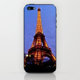 Eiffel Tower at Night iPhone Skin
