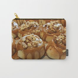 Homemade baking. Buns with caramel and walnuts. Carry-All Pouch