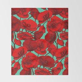 Poppies I Throw Blanket