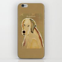 golden retriever iPhone & iPod Skins featuring golden retriever dog modern by bri.buckley