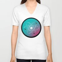 aviation V-neck T-shirts featuring Atomic Formation by nicebleed
