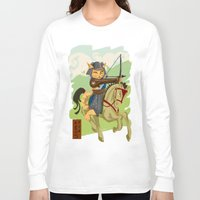archer Long Sleeve T-shirts featuring The Archer by Ginger Breo