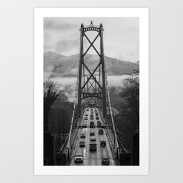 Lion's Gate Bridge Art Print