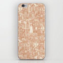 vintage halloween rust ivory iPhone Skin