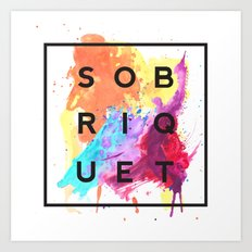 Sobriquet Watercolour. Art Print