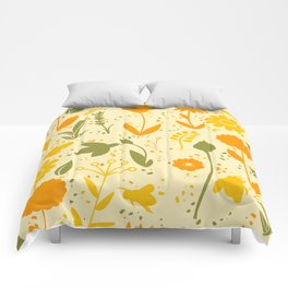 Bee Filled Field Comforters
