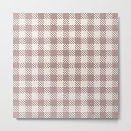 Plaid Pattern 513 Beige Metal Print