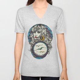 The 3 Birds of Rhiannon Unisex V-Neck