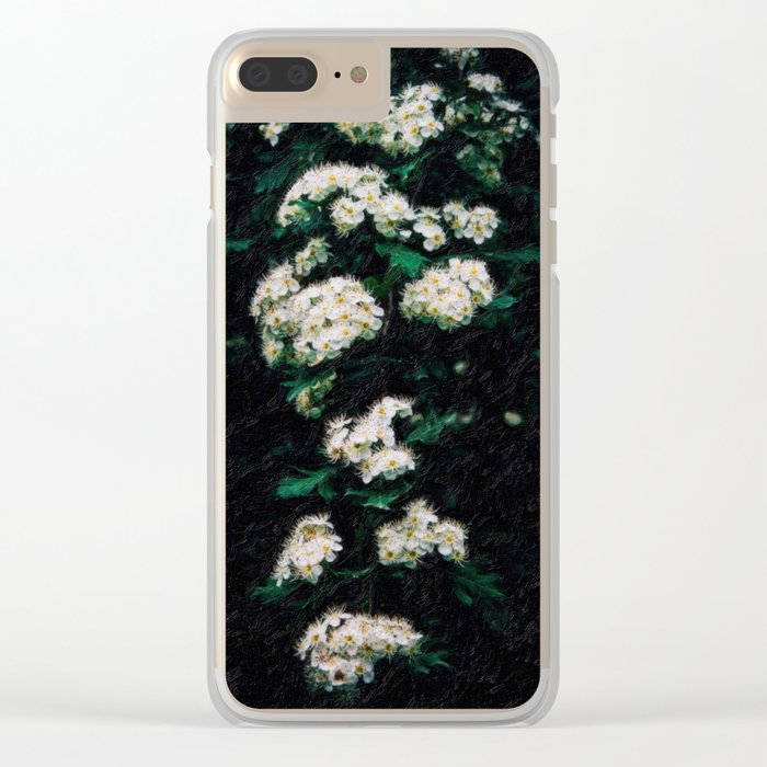abstract almond flowers Clear iPhone Case