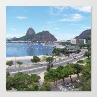 rio de janeiro Canvas Prints featuring Rio de Janeiro Landscape by Fernando Macedo
