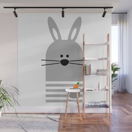 BUNNY WITH A CARROT Wall Mural
